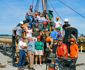 2008 Foremast Removal Crew